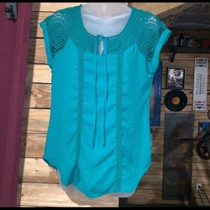 Maurices Boho Crochet Top Size S